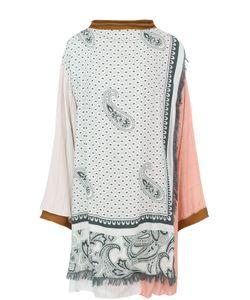 Acne | Удлиненная Блуза Свободного Кроя С Принтом И Бахромой