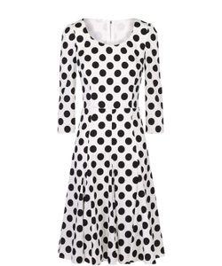 Dolce & Gabbana | Шелковое Платье В Горох С Укороченным Рукавом