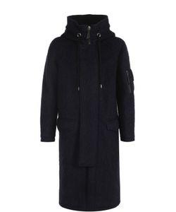 Giorgio Armani | Шерстяное Удлиненное Пальто На Молнии С Капюшоном
