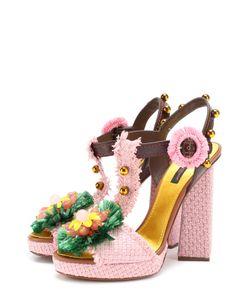 Dolce & Gabbana | Плетеные Босоножки Keira С Декором