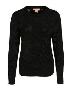 Michael Kors | Полупрозрачный Пуловер С Цветочным Принтом