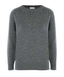 Saint Laurent | Кашемировый Пуловер Свободного Кроя Со Спущенным Рукавом