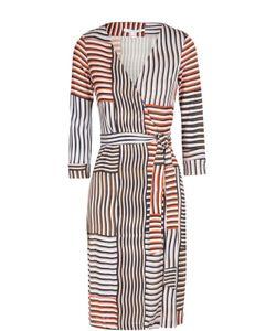 Diane Von Furstenberg   Платье New Julian Two Из Эластичного Шелка С Запахом И Поясом