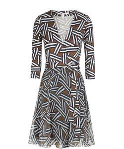 Diane Von Furstenberg | Платье Irina Из Эластичного Шелка И Шифона С Запахом И Поясом