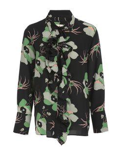 Marni | Шелковая Блуза С Цветочным Принтом