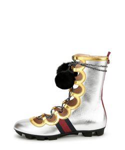Gucci | Кожаные Высокие Кеды Titan High С Помпонами
