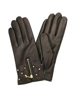 Sermoneta Gloves | Кожаные Перчатки С Молниями И Заклепками