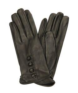 Sermoneta Gloves | Кожаные Перчатки С Пуговицами