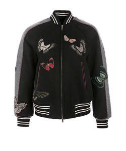 Valentino | Куртка-Бомбер С Вышивкой Бисером