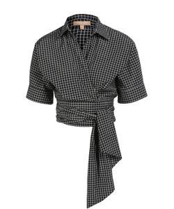Michael Kors | Укороченная Хлопковая Блуза С Поясом