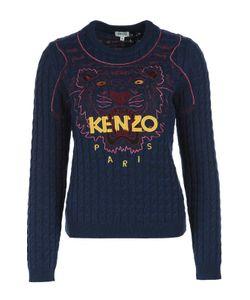 Kenzo | Пуловер Фактурной Вязки С Вышивкой