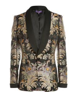 Ralph Lauren | Приталенный Шелковый Жакет С Цветочным Принтом