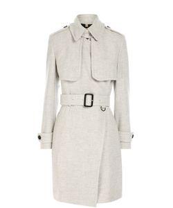 Burberry | Кашемировое Пальто С Поясом И Укороченным Рукавом