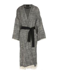 Isabel Marant | Пальто С Контрастным Поясом И Бахромой