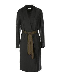 Dries Van Noten | Пальто Прямого Кроя С Контрастным Поясом