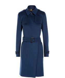 Burberry | Шерстяное Пальто С Поясом И Карманами