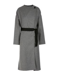 Isabel Marant | Пальто Прямого Кроя Со Спущенным Рукавом И Поясом