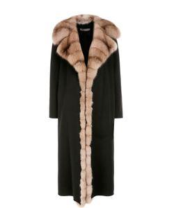Simonetta Ravizza   Кашемировое Пальто С Отделкой Из Меха Соболя