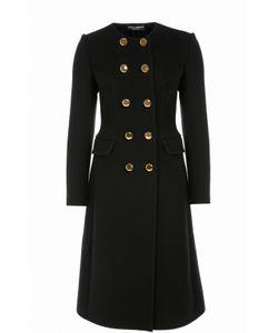 Dolce & Gabbana | Приталенное Двубортное Пальто С Круглым Вырезом
