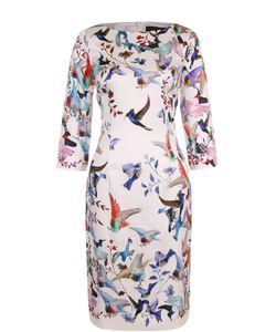 St. John | Шелковое Платье С Ярким Принтом