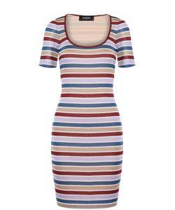 Dsquared2   Облегающее Мини-Платье В Полоску С Круглым Вырезом