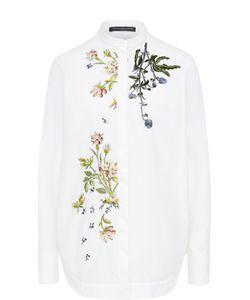 Alexander McQueen | Блуза С Воротником-Стойкой И Цветочной Вышивкой