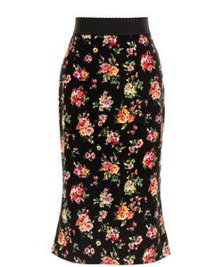 Dolce & Gabbana | Шелковая Юбка С Цветочным Принтом
