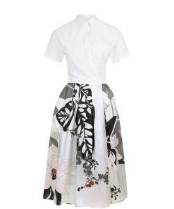SARA ROKA | Платье-Рубашка С Цветочным Принтом И Коротким Рукавом