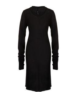 Isabel Benenato   Платье Из Смеси Хлопка И Шерсти С Длинным Рукавом