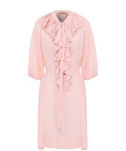 No. 21 | Платье Свободного Кроя С Плиссированными Оборками