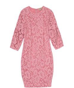 Burberry   Кружевное Мини-Платье С Укороченным Рукавом