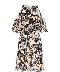 Polo Ralph Lauren | Шелковое Платье С Открытыми Плечами И Оборкой