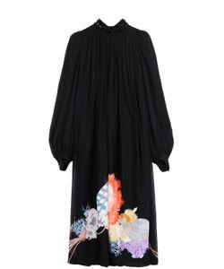 Dries Van Noten | Шелковое Платье Свободного Кроя С Цветочным Принтом