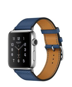 Apple | Watch 42mm Stainless Steel Case Hermes Single Tour Epsom Leather