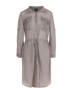 Giorgio Armani | Приталенное Платье-Рубашка С Накладными Карманами