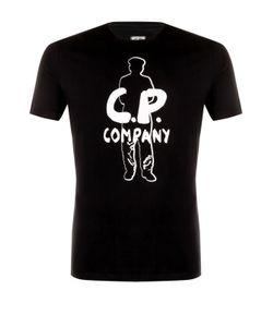 C.P. Company | Хлопковая Футболка С Принтом
