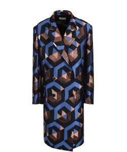 Dries Van Noten | Пальто Прямого Кроя С Металлизированной Нитью