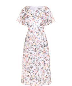 Paul & Joe | Шелковое Приталенное Платье С Цветочным Принтом Pauljoe