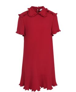 Red Valentino | Платье-Рубашка С Оборками