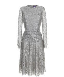 Ralph Lauren | Кружевное Платье С Длинным Рукавом И Поясом