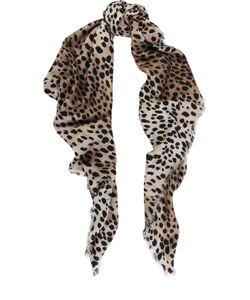 Roberto Cavalli | Платок Из Смеси Шерсти И Шелка С Леопардовым Принтом