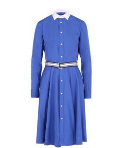 Polo Ralph Lauren | Платье-Рубашка С Контрастным Воротником И Поясом