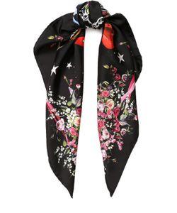 Dolce & Gabbana | Шелковый Платок С Цветочным Принтом