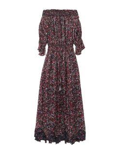 Elie Tahari | Платье-Макси С Цветочным Принтом И Открытыми Плечами