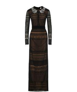Zuhair Murad | Кружевное Платье-Макси С Длинным Рукавом
