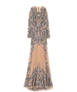 Zuhair Murad | Приталенное Платье-Макси С Вышивкой