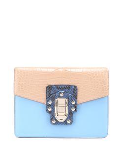 Dolce & Gabbana | Сумка Lucia С Отделкой Из Кожи Крокодила И Питона Dolce
