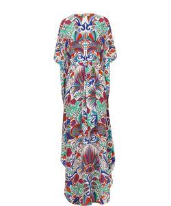 Lazul | Шелковое Платье-Макси С Ярким Принтом