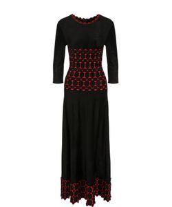 Alaïa | Приталенное Платье-Миди С Укороченным Рукавом