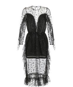 Alice McCall   Полупрозрачное Платье-Миди С Оборками